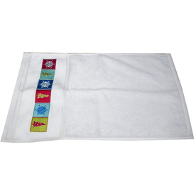 Style Selections 18-in x 12-in White Cotton Fingertip Towel