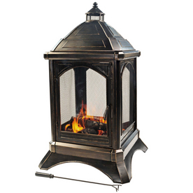 Outdoor Wood Burning Fireplace From Lowes Fireplaces Heat Patio