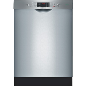 Bosch 300 Series 49-Decibel Built-In Dishwasher (Stainless Steel) (Common: 24-in; Actual 23.5625-in) ENERGY STAR
