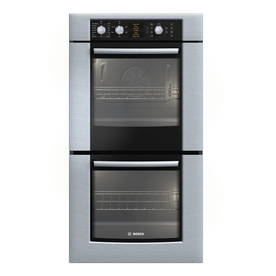 Bosch 500 Series 27-in Self-Cleaning Convection Double Electric Wall Oven (Stainless)