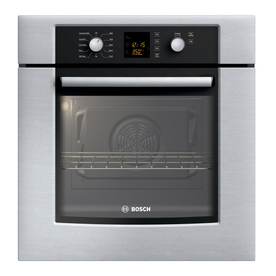 Bosch 300 Series 27-in Self-Cleaning Convection Single Electric Wall Oven (Stainless)