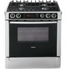 Bosch 700 Series 30-in 4.6 cu ft Self-Cleaning Convection Dual Fuel Range (Stainless Steel)