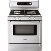 Bosch 700 Series 30-in 4.6 cu ft Self-Cleaning Convection Dual Fuel Range (Stainless Steel Pro)