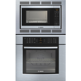 Bosch 29-3/4-in Self-Cleaning Convection Microwave Wall Oven Combo (Stainless)