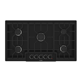 Bosch 500 Series 36-in 5-Burner Gas Cooktop (Black)