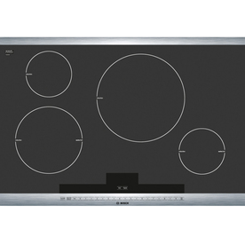 Bosch 800 Series 30-in Smooth Surface Induction Electric Cooktop (Stainless Steel)