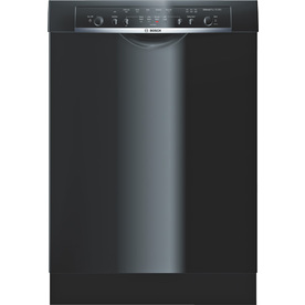 Bosch Ascenta 50-Decibel Built-In Dishwasher (Black) (Common: 24-in; Actual 23.625-in) ENERGY STAR