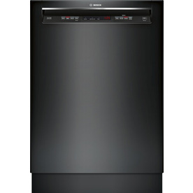 Bosch 300 Series 46-Decibel Built-In Dishwasher (Black) (Common: 24-in; Actual 23.625-in) ENERGY STAR