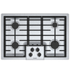 Bosch 500 Series 4-Burner Gas Cooktop (Stainless Steel) (Common: 30-in; Actual: 31-in)
