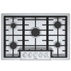 Bosch 800 Series 5-Burner Gas Cooktop (Stainless Steel) (Common: 30-in; Actual: 31-in)