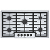 Bosch 500 Series 5-Burner Gas Cooktop (Stainless Steel) (Common: 36-in; Actual: 37-in)