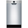 Bosch 300 Series 46-Decibel Built-In Dishwasher (Stainless Steel) (Common: 18-in; Actual 17.625-in) ENERGY STAR