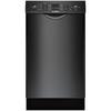 Bosch 300 Series 46-Decibel Built-In Dishwasher (Black) (Common: 18-in; Actual: 17.625-in) ENERGY STAR