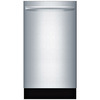 Bosch 800 Series 44-Decibel Built-In Dishwasher (Stainless Steel) (Common: 18-in; Actual: 17.625-in) ENERGY STAR