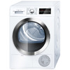 Bosch 800 Series 4-cu ft Stackable Electric Dryer (White/Chrome) ENERGY STAR