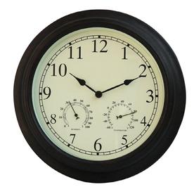 Shop garden treasures 3 in 1 clock with thermometer for Garden treasures pool clock