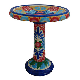 Talavera Indoor/Outdoor Birdbath