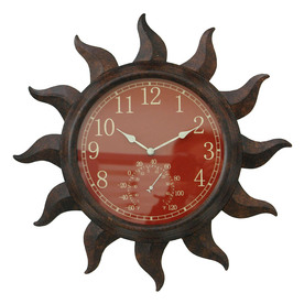 Garden Treasures 19-in Dia 2 in 1 Sun Clock and Thermometer