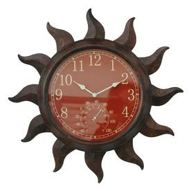 Shop garden treasures 19 in dia 2 in 1 sun clock and for Garden treasures pool clock