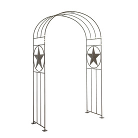 Garden Treasures 54-in W x 84-in H Powder-Coated Star Design Garden Arbor