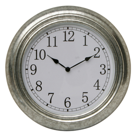 Shop garden treasures 14 in dia galvanized clock at for Garden treasures pool clock