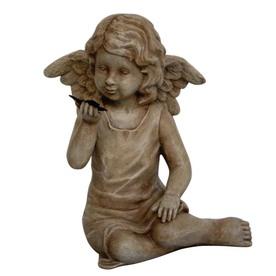 11.5-in Cherub Design Garden Statue
