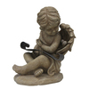  11.38-in H Cherub Design Garden Statue