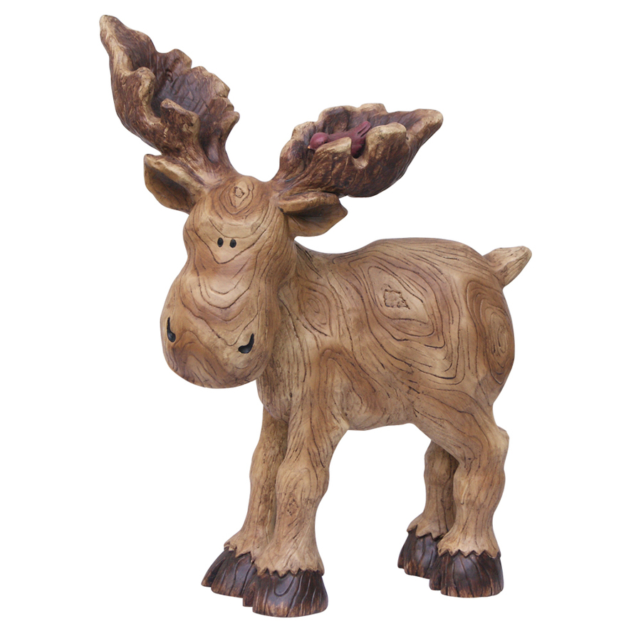 Shop 15 in h moose design garden statue at for Moose decorations home