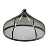 allen + roth Food Cover 16-in x 16-in Powder-Coated Oil Bronze Finish Steel Round Serving Caddy