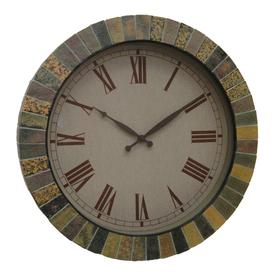 Shop garden treasures faux slate garden clock at for Garden treasures pool clock