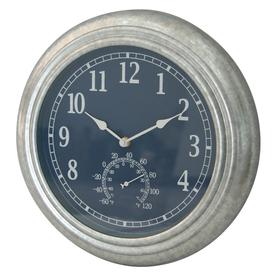 Shop garden treasures indoor outdoor galvanized metalic for Garden treasures pool clock