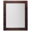 allen + roth Espresso Rectangular Bathroom Mirror