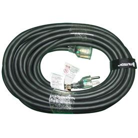 Utilitech 40' 12/3 SJEOW Black TPE-Rubber ext. cord w/indicator light