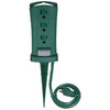 Utilitech 6-ft 13-Volt 3-Outlet 16-Gauge Green Outdoor Extension Cord with Built-In Circuit Breaker