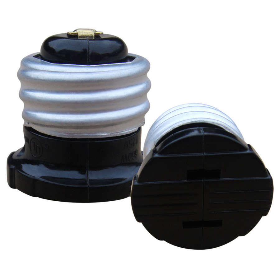 shop 660 watt black medium light socket adapter at. Black Bedroom Furniture Sets. Home Design Ideas