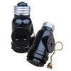 660-Watt Black Medium Light Socket Adapter with Pull Chain