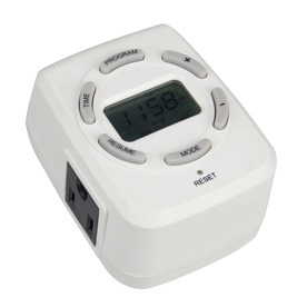 Utilitech 15-Amp 2-Outlet Digital Residential Plug-In Lighting Timer