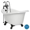 American Bath Factory Marilyn 67-in L x 32-in W x 30-in H White Acrylic Round Clawfoot Air Bath