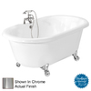 American Bath Factory Celine 70-in L x 32-in W x 24-in H White Acrylic Round Clawfoot Air Bath