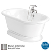 American Bath Factory 60-in L x 32-in W x 23-1/2-in H Nobb Hill White Round Air Bath