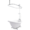 American Bath Factory 59-in x 31-in Chelsea White Round Clawfoot Bathtub with Reversible Drain