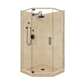 American Bath Factory Panel Medium Fiberglass And Plastic Neo Angle Corner Sh