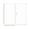 American Bath Factory 70-in H x 47.5-in W Sonoma Shower Glass Panel