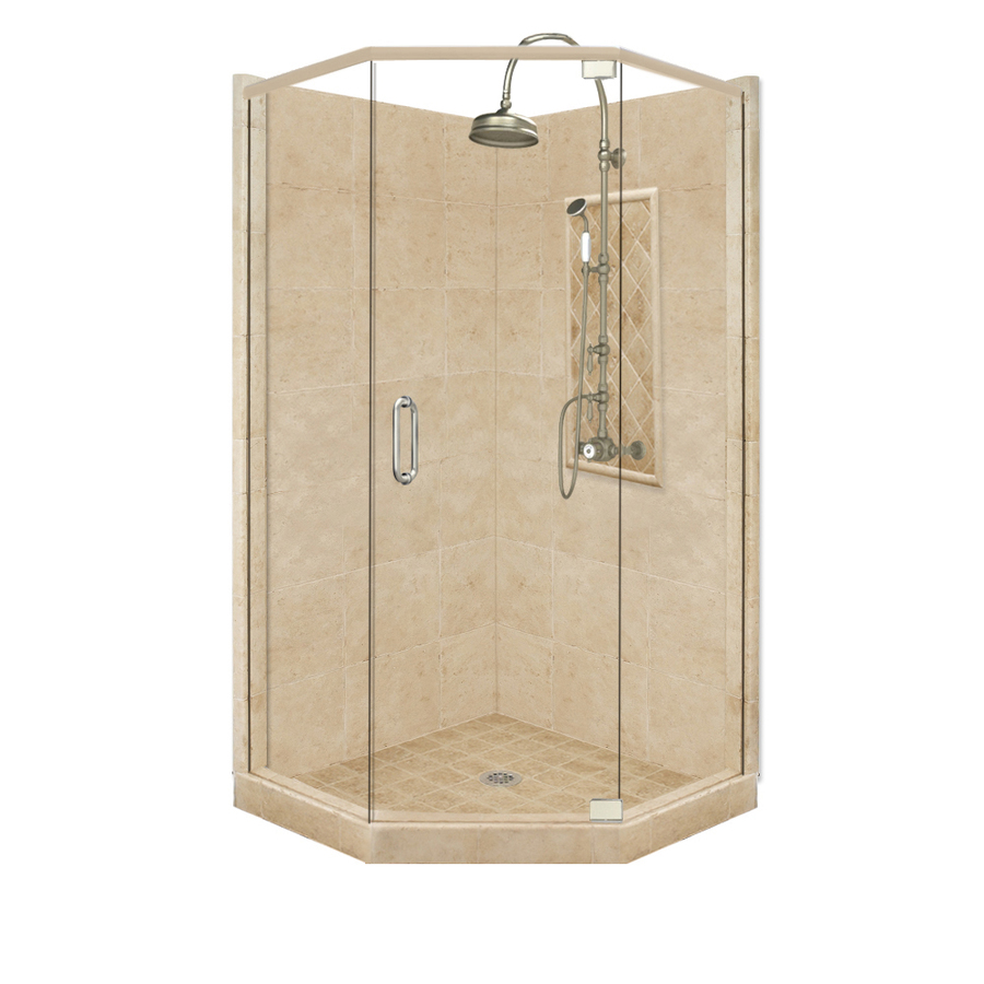 Angle Corner Shower Kit Actual 86 In X 42 In X 48 In At