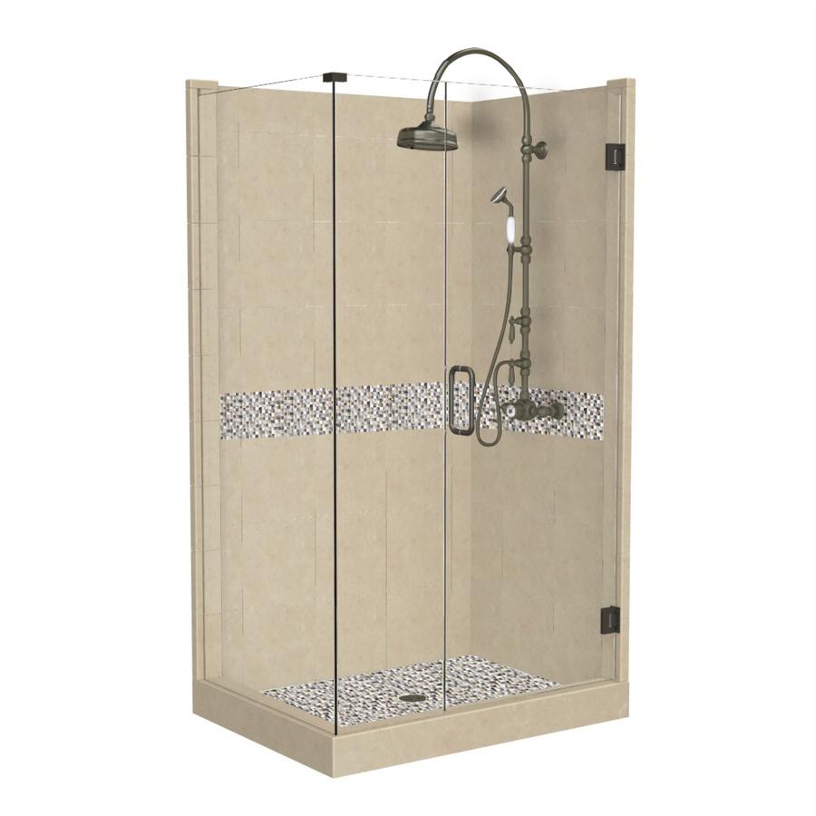 Shop American Bath Factory Java Medium With Java Accent Fiberglass And Plasti