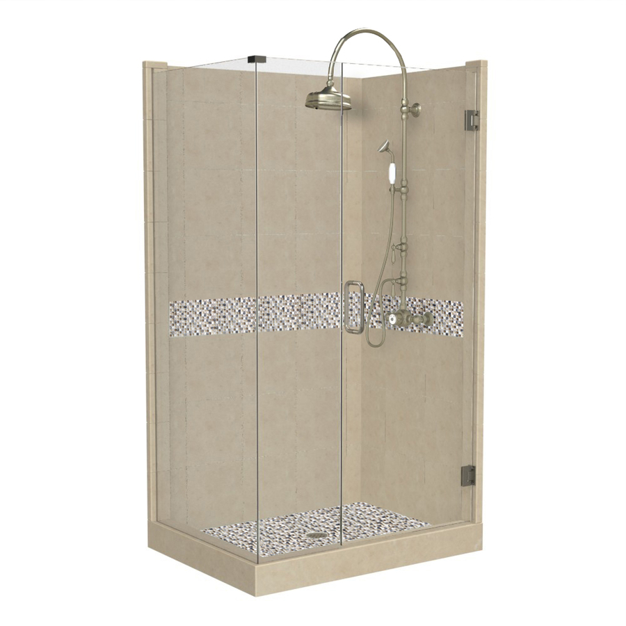 Square Corner Shower Kit Actual 86 In X 42 In X 42 In At