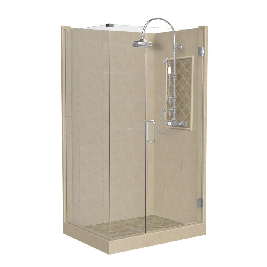 Square Corner Shower Kit Actual 86 In X 32 In X 36 In At