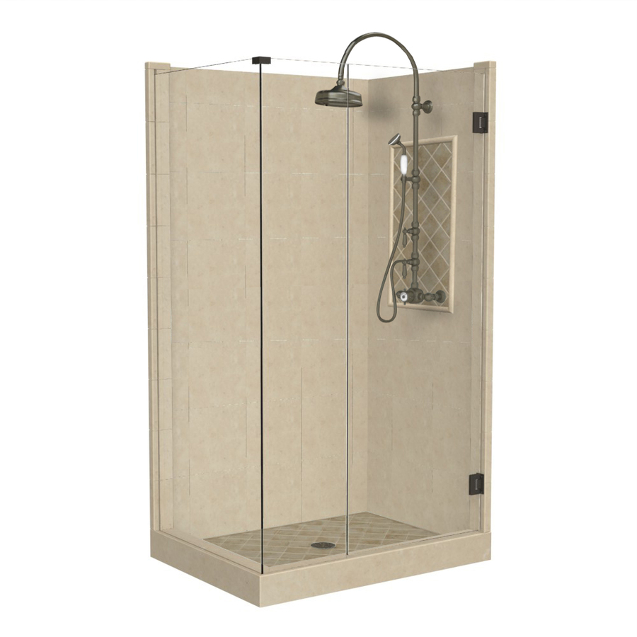 Square Corner Shower Kit Actual 86 In X 36 In X 42 In At