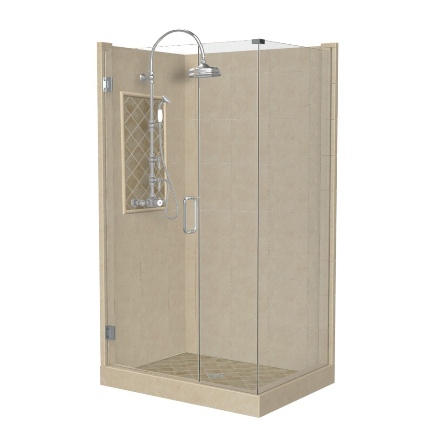 Shop american bath factory panel medium fiberglass and Walk in shower kits