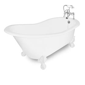 shop american bath factory wintess cast iron oval bathtub